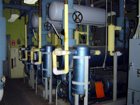 Water chillers for HVAC system