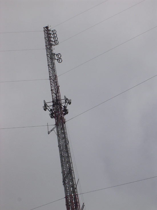 405 foot guyed tower with ERI FM antennas