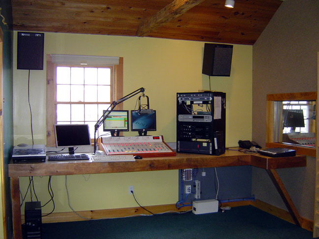New WKZE air studio completed, console is a Radio System millennium 12