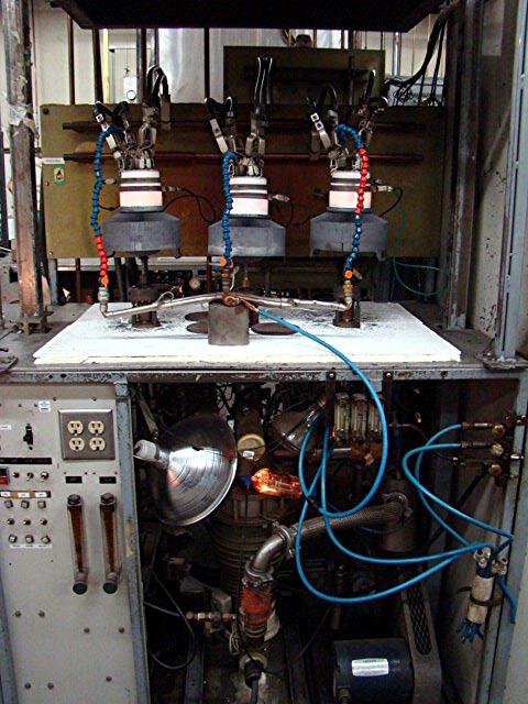 vacuum pump on rebuilt ceramic power tubes