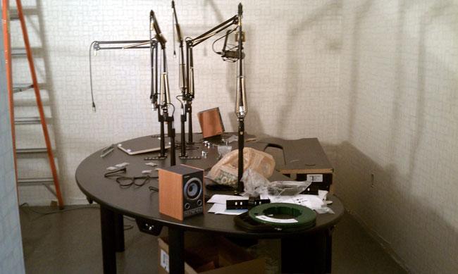 New WICC talk studio furniture