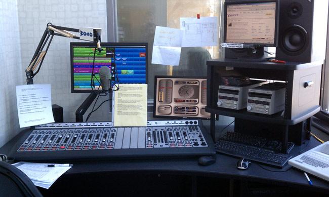WEBE temporary control room