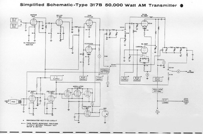 Continental 317B simplified schematic diagram