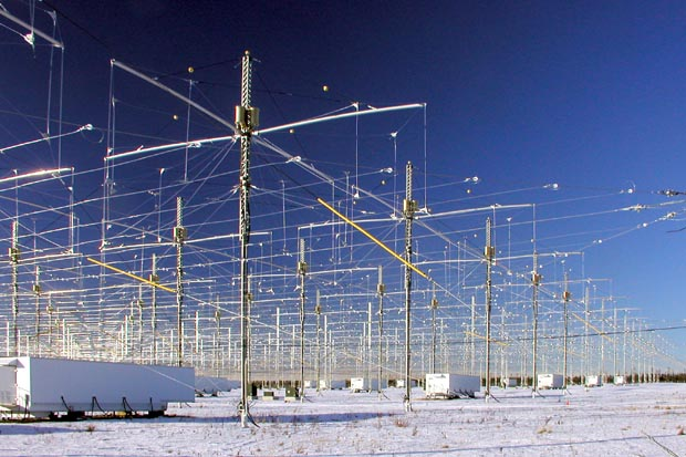 HAARP array close up, Gakona, AK