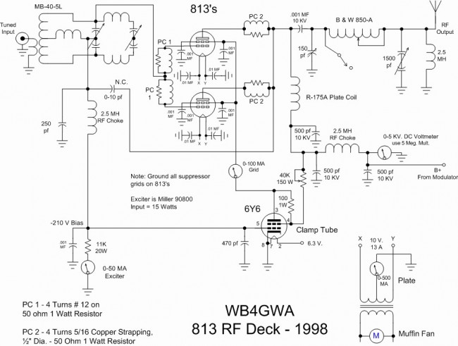 813 Tube type 250 watt transmitter final