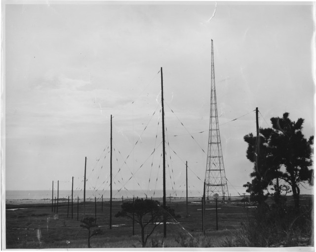 WCC transmitting antenna, South Chatham, MA courtesy MHRS