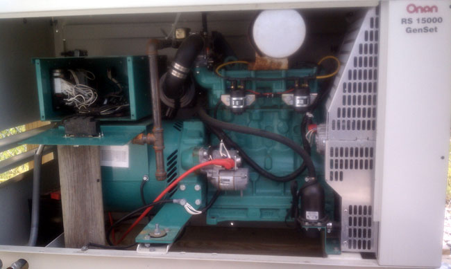Onan RS-15000 gaseous generator
