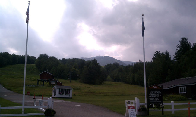 Mount Mansfield Toll Road gate