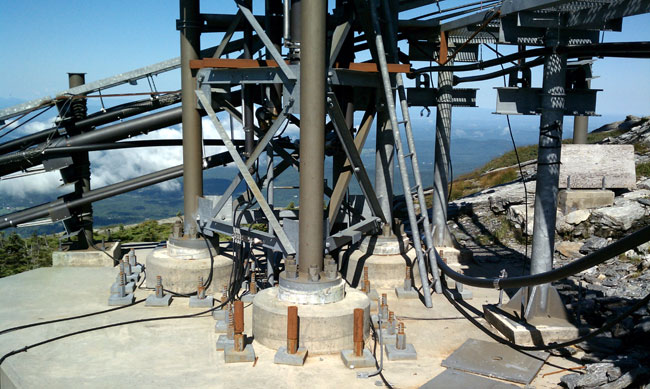 Mount Mansfield tower base