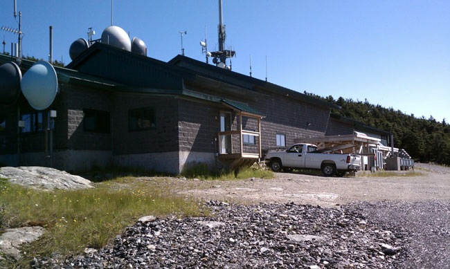 Mount Mansfield transmitter building