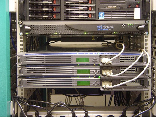 Rack Mounted servers in data center