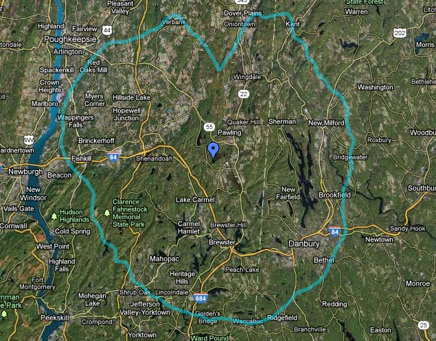 WDBY, Patterson, NY 60 dBu contour