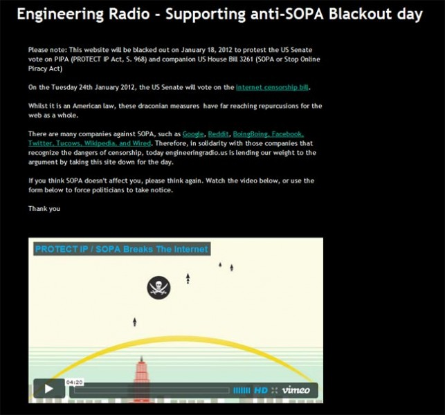 SOPA PIPA protest screen shot