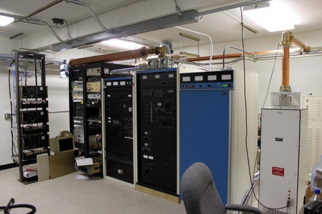 WRKI WINE transmitter room