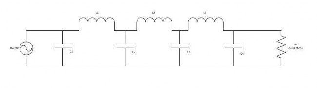 Low pass filter schematic diagram
