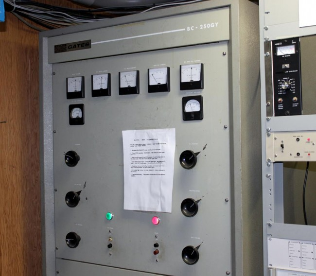 Gates BC250GY transmitter, WSBS Great Barrington, MA