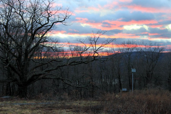 View looking west from the WRKI transmitter site, Brookfield, CT