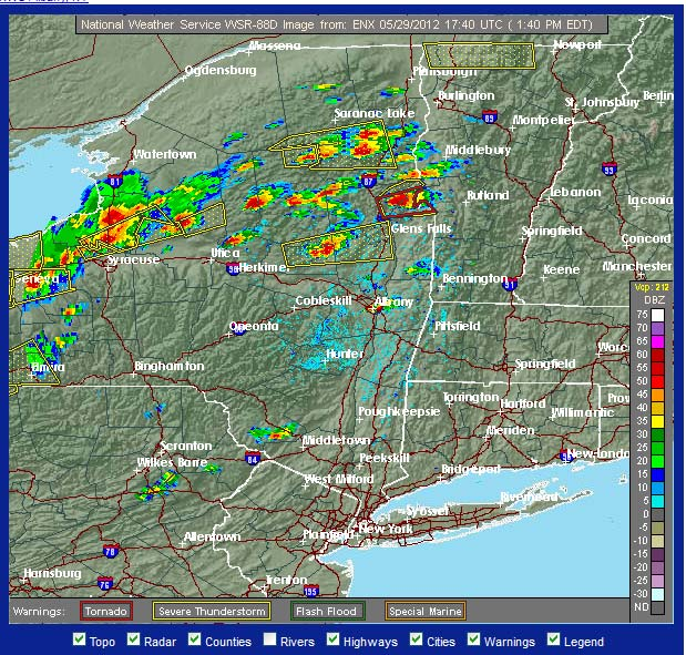 Weather Radar, thunderstorm line