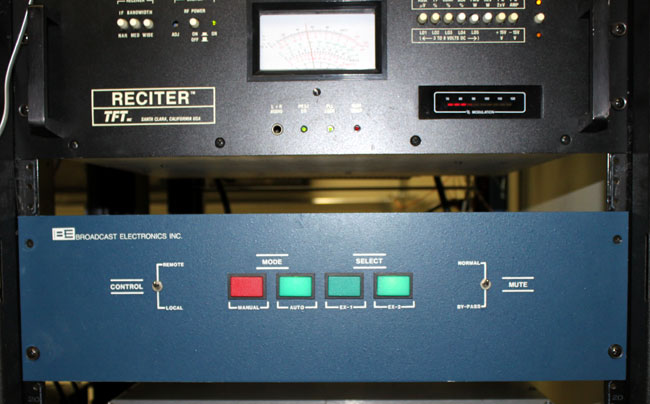 Broadcast Electronics FW-30 front, mid 1980's BE blue