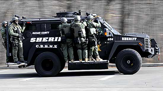 Sherrif department armored vehicle