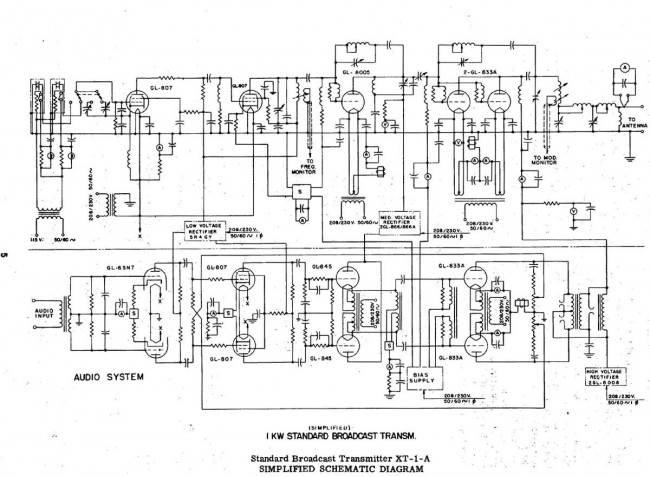 General Electric XT-1-A schematic diagram