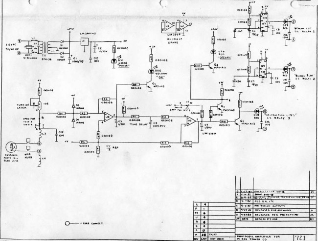 PRCLA tower light controller schematic
