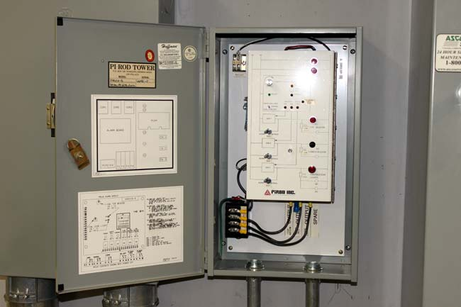 PIROD PRLCA tower light controller, WRKI Brookfield, CT