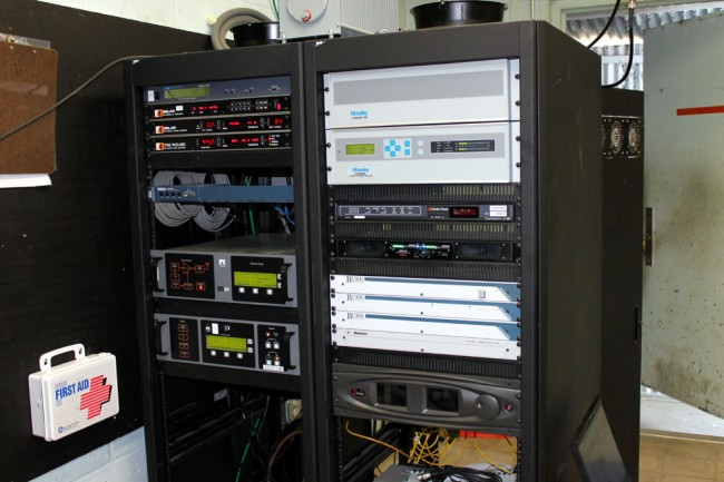 WVTQ transmitter racks and STL equipment