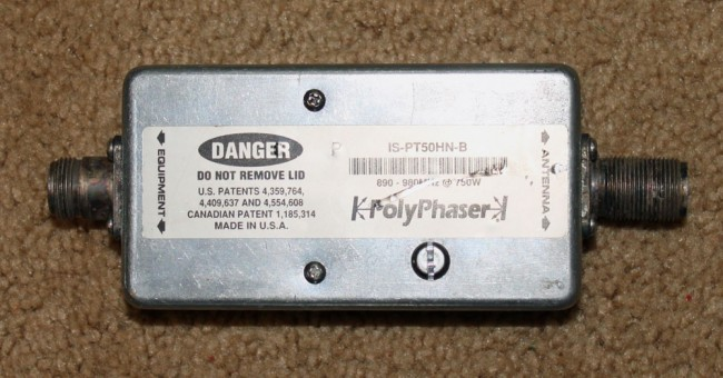 Polyphaser IS-PT50HN-B DC block surge suppressor