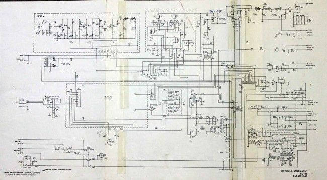 Gates/Harris BC1H overall schematic diagram