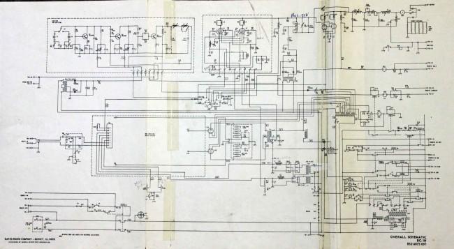 Gates/Harris BC1H overall schematic diagram