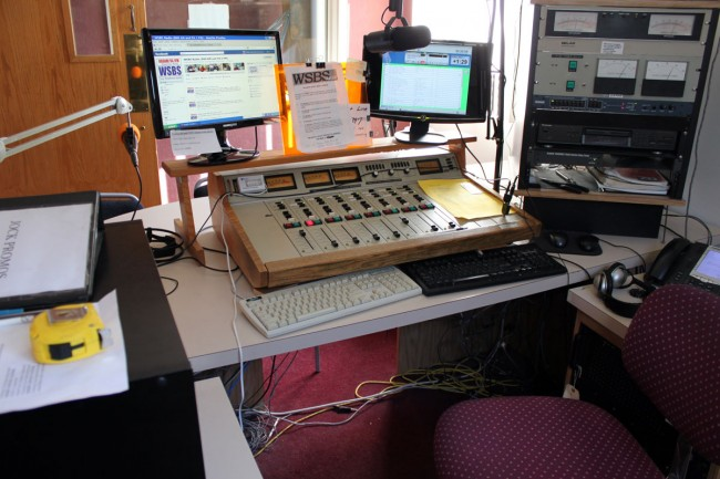 WSBS control room console