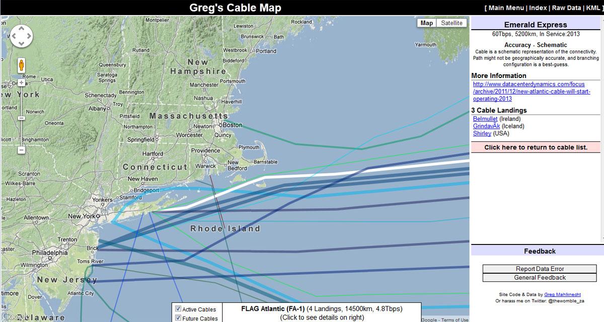 Undersea Cable Map « Engineering Radio