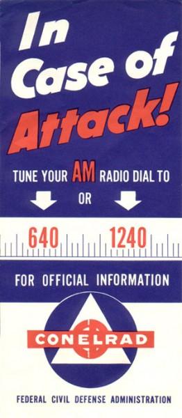 CONELRAD poster, circa 1950's