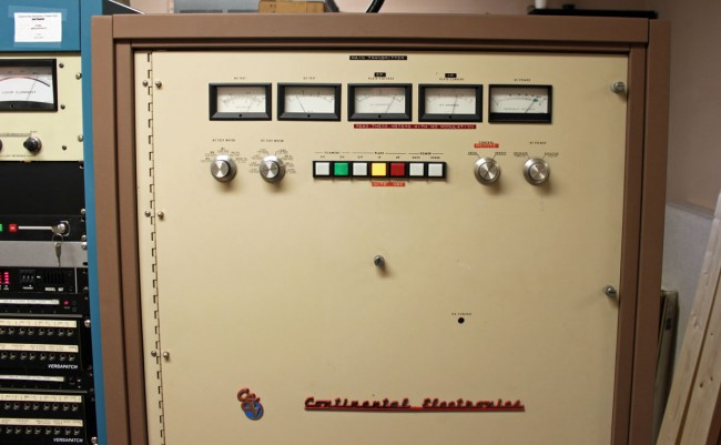 Continental 315R-1 AM transmitter, WVMT, Burlington, VT