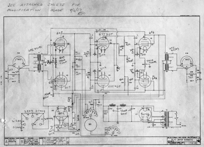 Raytheon RL-10 Schematic diagram