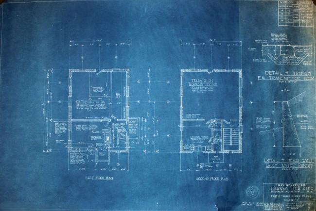 WFLY transmitter building floor plan