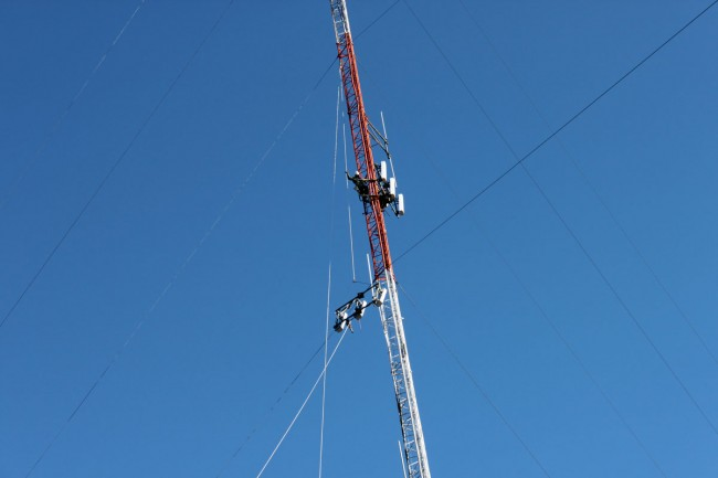 Dropping cellular panel antennas
