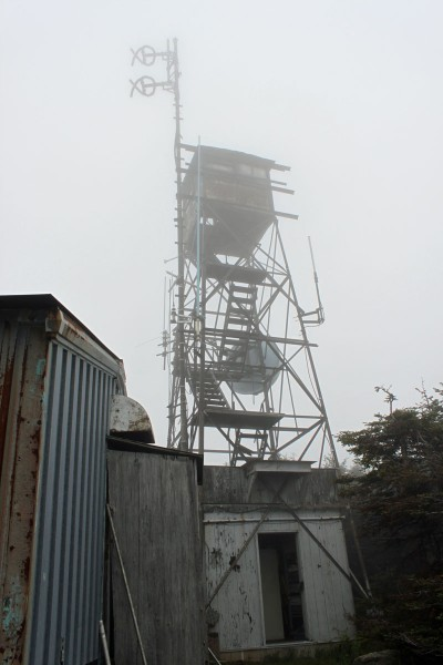 Killington Peak fire tower, WJJR WZRT transmitter building