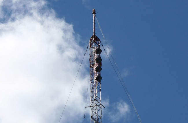 W232AL antenna, new installation on WFAS AM tower