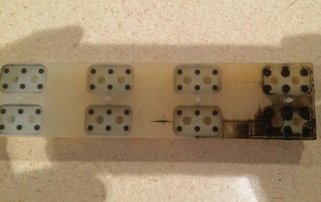 RS-18 Millenium console on/off button membrane