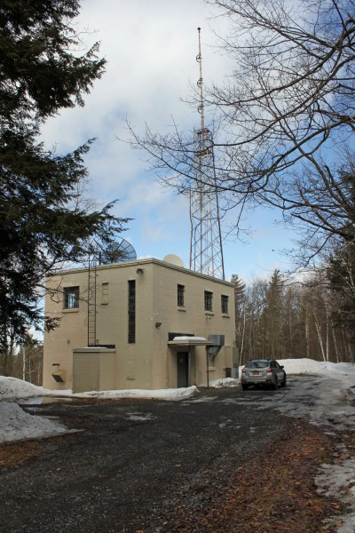 WFLY transmitter building, New Scotland, NY