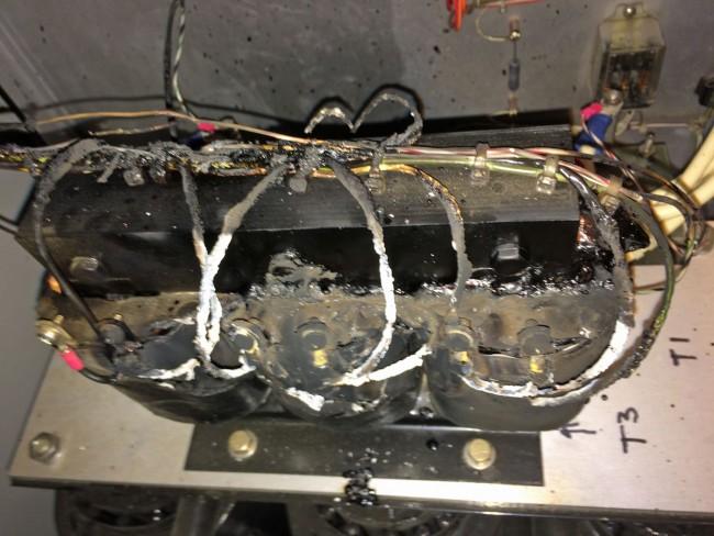 Transformer melt down