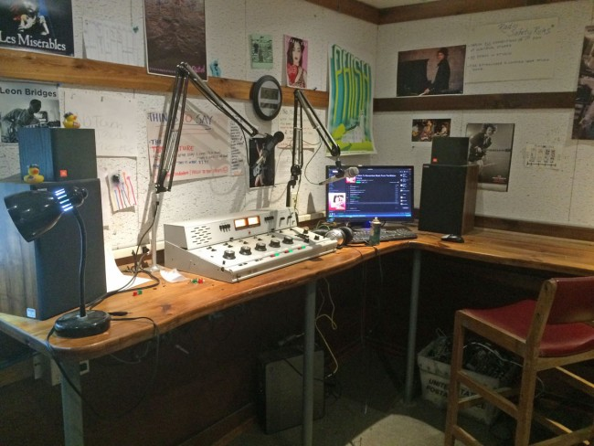 Camp Radio Station console and computer