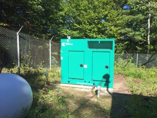 Cummins power generator, test with 35% load