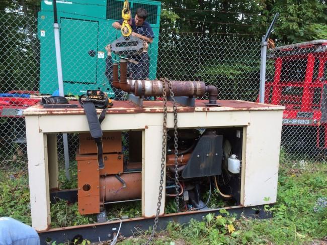 Old generator, off to generator heaven