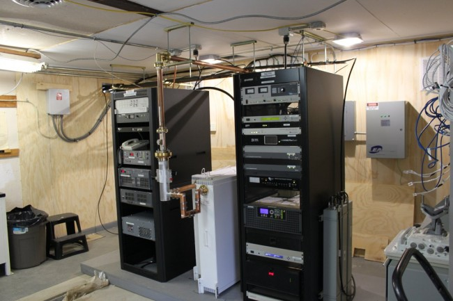 WUPE-FM and WNNI transmitter racks, North Adams, MA