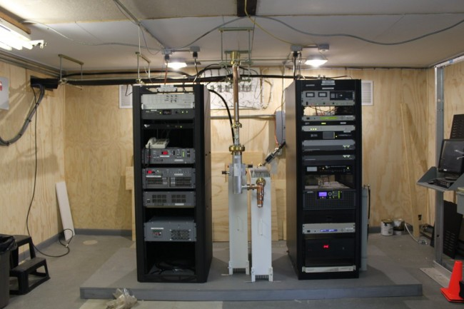 Transmitter racks for WUPE-FM, WNNI and W266AW