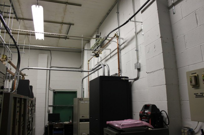 New installation of transmitter, transfer switch and test load