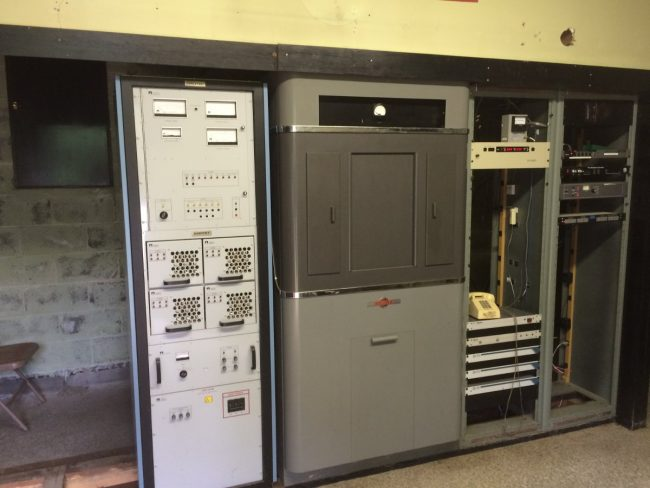 WGHQ transmitter and original Collins phasing cabinet